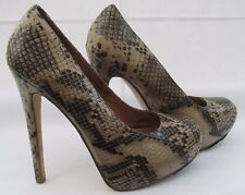 Aldo size 6 (39) multi coloured snake print high heel platform courts