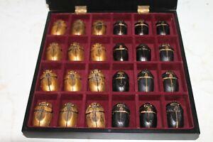 pedine egitto per dama a forma di scarabeo da collezione della fabbri editore