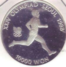 Südkorea:10000 Won,1986,3. Ausgabe zur Olympia 1988,Läufer,PP,Schön100, s. Scann