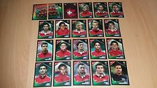 Panini Football Uefa Portugal Euro 2004 Switzerland Team Stickers x21 Complete