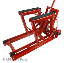1500lb Hydraulic Motorcycle Bike Lift Motorbike ATV Quad Jack Jet Ski Moped Ramp