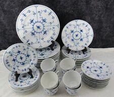 (40) Pc. Royal Copenhagen Blue Fluted Plain Porcelain Dinner Service for (8)