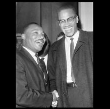Martin Luther King Jr, Malcolm X PHOTO Black Segregation Civil Rights MLK
