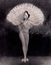 Show Girl w/ Feathers No Top B & W HENDRICKSON PHOTO Original Artist Studio D400