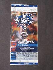 2000 World Series FULL Ticket Game 5 Mets Yankees Shea Stadium NICE CONDITION