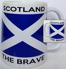SCOTLAND THE BRAVE, St Andrews Cross Flag 11oz mug dishwasher and microwave safe