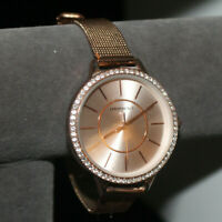 Aeropostale Woman's Copper Tone 2 piece strap Watch with Crystal Accents