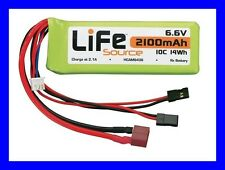 Hobbico LIFE 6.6v 2100mah RC Remote Control Receiver Lifesource Battery HCAM6436