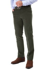 Men's Drill Cotton trouser 100% Cotton- Olive Green - RRP £59.95 OurPrice £29.95