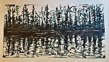 WERNER DREWES Original PENCIL SIGNED Color WOODCUT 1958 Reflection