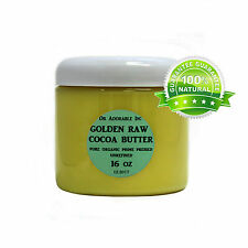 Golden Cocoa Butter Organic Raw Grade A Prime Pressed Unrefined 2 Oz Up To 12Lb