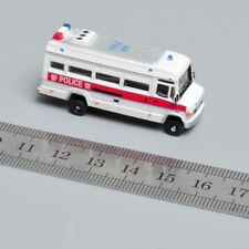 White Police Car Vehicles Model Toys 1/150 Scale Plastic Diecast Car AM 7144