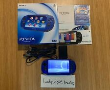 PS Vita Sapphire Blue PCH 1000 ZA04 BOX Console Charger Used Sony Playstation