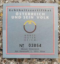 1 x Österreich 500 Schilling Silber 2000 Burg Hohenwerfen Echtheitszertifikat
