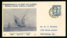 Libya Rare Naval 1935 Cover with Italian Stamp Affixed