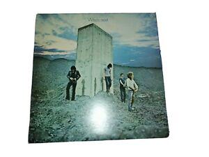 """THE WHO 12"""" L.P. 1971.   'WHO'S NEXT.'   TRACK RECORDS.   2408102.   EX CON."""
