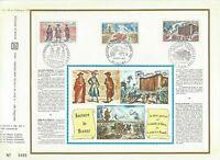 FEUILLET CEF 1er JOUR FRANCE HISTOIRE DE FRANCE LES ETATS GÉNÉRAUX 1971