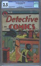 Detective Comics #50 CGC 2.5 DC 1941 Batman! JLA! Justice League! Golden Age! cm