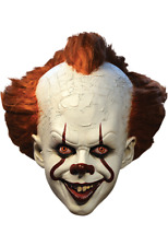 Halloween IT Pennywise Deluxe Edition With Hair Latex Clown Mask Trick or Treat
