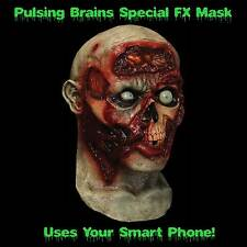 Full Head Animated PULSING ZOMBIE BRAINS MASK Cosplay Costume--Uses SMART PHONE!