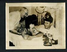 1946 World Series Press Photo Red Sox Cardinals Game 1 Pitchers Hughson & Pollet