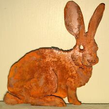 Papa Bunny Rusty Metal Rabbit Silhouette Accent  Inside or Out,   ELEGANTA205