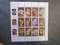 2007 SURINAME ORCHIDS SHEET OF 12 MINT STAMPS MNH