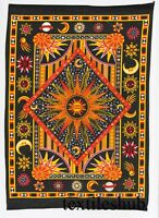 Wall Hanging Poster Sun Moon Tapestry Cotton Indian Bohemian Boho Star Decor Art
