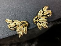 Classic Vintage Gold-tone Butterfly Wings Clip On Earrings by Coro