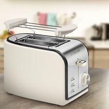 Design Röster 2 Scheiben Toaster Sandwich Krümelschublade Brötchen Aufsatz 800 W