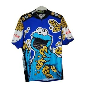 Cookie Monster Cycling Jersey Shirt Bicycle Men's Size X-Large Pearl Izumi