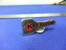 vtg badge key rider Norfolk motor cycle bike training school ? 1970s  cycling ?