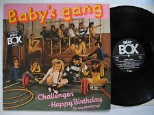 "BABY'S GANG Challenger - swedish remix 12"" maxi 1985 Sweden Beat Box EX"