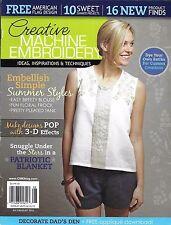Creative Machine Embroidery magazine Summer embellish styles 3D effects Blanket