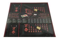 Sushi Set 8 tlg Teller Geschirr Besteck Stäbchen Porzellan schwarz+schrift Nr.4