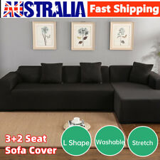 L Shape Sofa Cover Couch Covers 3 2 Seater Slipcover Lounge Protector Stretch