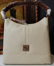 NWT Dooney & Bourke Pebble Sophie Hobo Leather Bone R080 BO