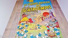 les schtroumpfs LA COMEDIE MUSICALE DES SCHTROUMPFS ! affiche peyo animation bd
