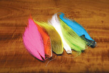 6 BUCKTAIL HAIR PIECES COMBO in Fl. Colors - Hareline  fly tying streamer wing