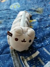 "9"" Gund PUSHEEN CAT PLUSH ZIPPER PENCIL CASE POUCH MAKEUP BAG"