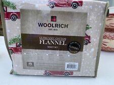Woolrich, Ultra Soft Cotton Flannel Sheet Set Full Dog Truck