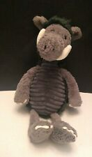 "Jellycat Walter Warthog Snagglebaggle Plush Gray 13"" Soft Toy Stuffed Animal"