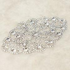 1 Pc Rhinestone Crystal Applique Wedding Bridal Dress Sew On Sewing DIY Craft