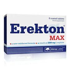 OLIMP Erekton Max 8 Tablets STRONG POTENCY ERECTION LIBIDO ENHANCER SEX PILLS