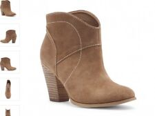 5b8b55252 SOLE SOCIETY SLIP ON SUEDE BOOTIE WESTERN STYLE COFFEE BROWN SIZE 5 M * NEW*