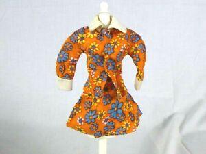 Vtg Barbie Clone MOD Orange Flower Power Jacket & Skirt Hong Kong