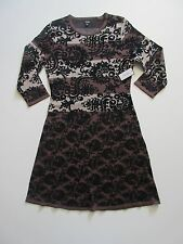 NWT Nine West Striped Jacquard Print ¾ Sleeve Knit Sweater Dress M $98