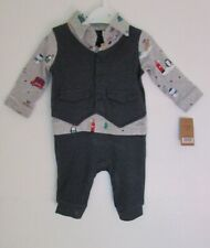 NWT GREY/NAVY BABY BOYS CHRISTMAS OUTFIT AGE 0-3 MONTHS