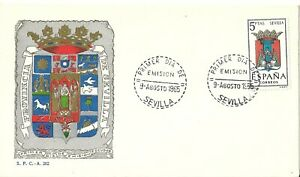 Spain 1965 First Day Cover - Shields Series - Sevilla