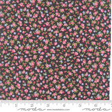 MODA Fabric ~ GUERNSEY ~ by Brenda Riddle (18644 17) Charcoal - by the 1/2 yard